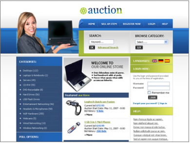 Auction Site Like Ebay Custom Website Design Custom Web Design